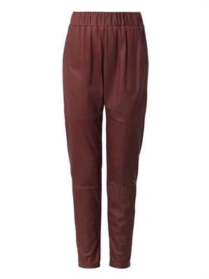 Relaxed-fit leather trousers