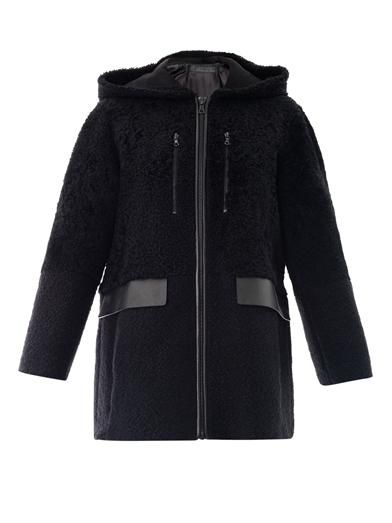 Drome Shearling sporty zipped coat