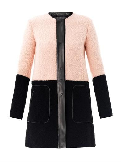Drome Bi-colour shearling coat