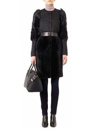 Drome Multi-texture mohair-blend coat