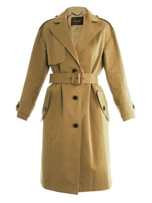 Gabardine cotton trench coat