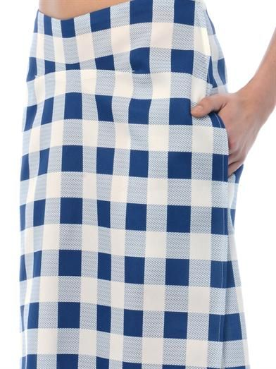 Derek Lam Check pencil skirt