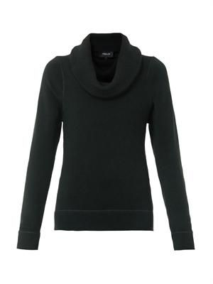 Cashmere and silk-blend roll neck sweater
