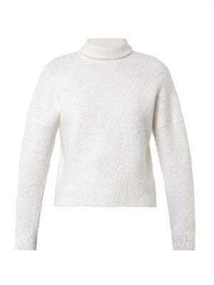 Bouclé-wool roll-neck sweater