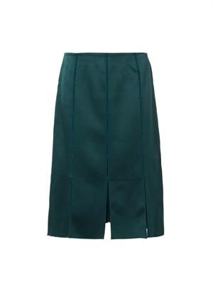 Split-detail midi skirt