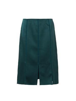 Split-detail midi skirt