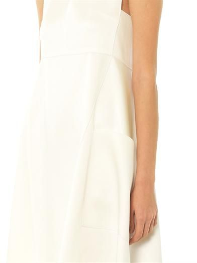 Derek Lam Satin apron dress