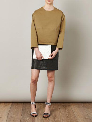 Derek Lam Gabardine long-sleeve blouse