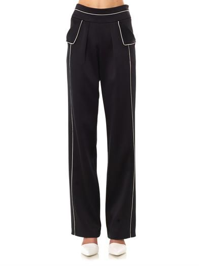 Derek Lam Contrast piping tailored trousers