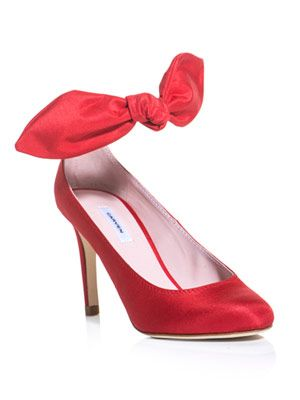 Silk bow shoes