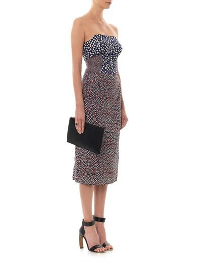 Emilio De La Morena Multi dot-print silk dress