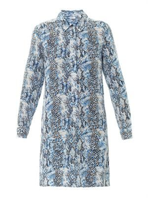 Lucinda snake-print silk dress