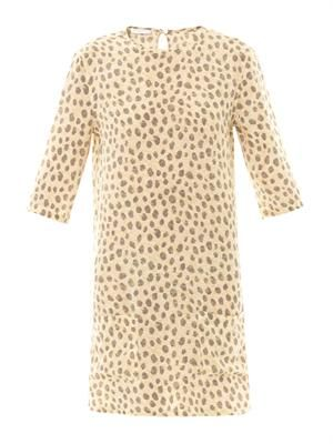 Aubrey cheetah-print silk dress
