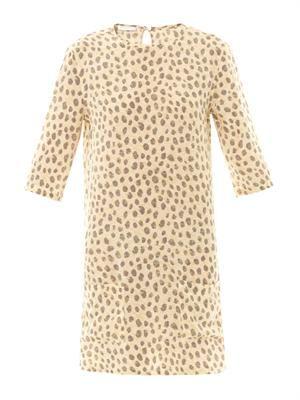 Aubrey cheetah-print silk dress