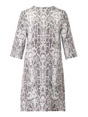 Aubrey snakeskin-print silk dress