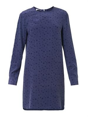 Owen star-print silk dress