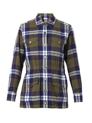 Monroe plaid cotton jacket