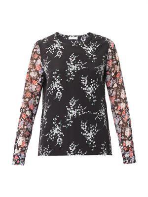 Liam floral-print blouse