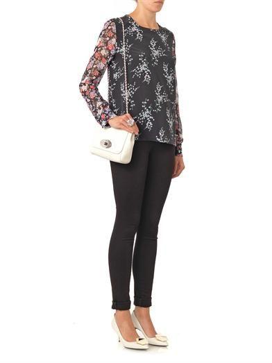 Equipment Liam floral-print blouse