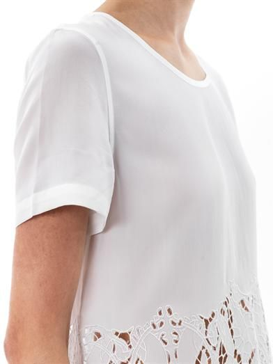 Equipment Riley cut-out blouse