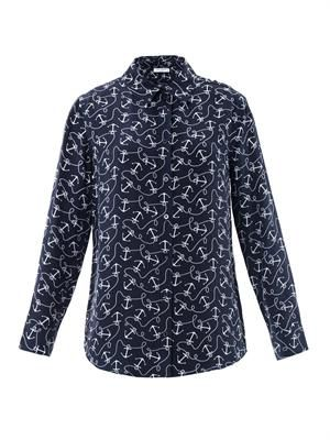 Reese anchor-print blouse