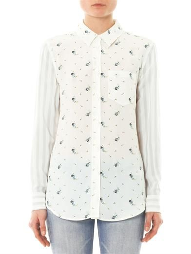Equipment Floral silk shirt