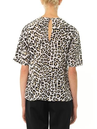 Equipment Logan leopard-print silk blouse