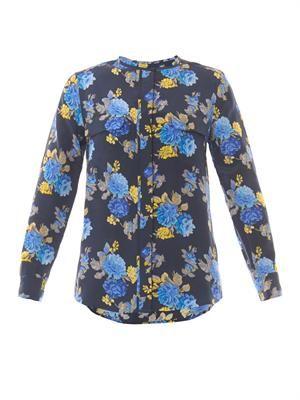 Lynn floral-print silk blouse