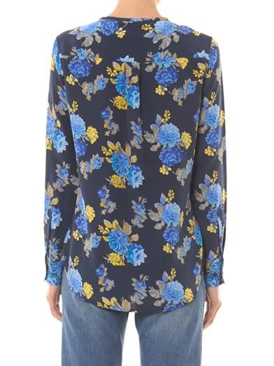 Equipment Lynn floral-print silk blouse