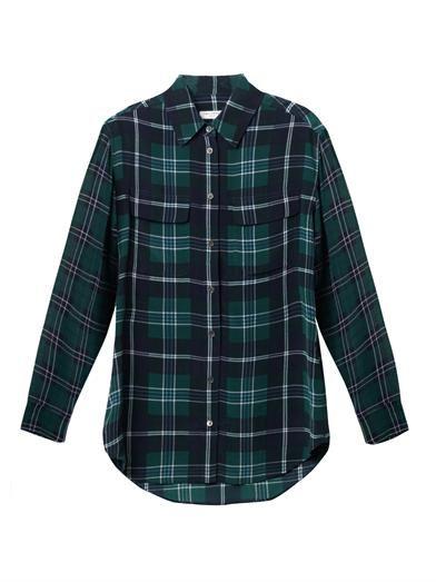 Equipment Check-silk signature shirt