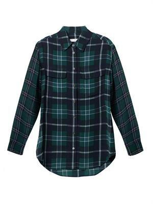 Check-silk signature shirt