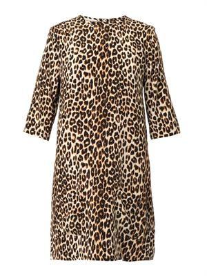 Aubrey leopard-print silk dress