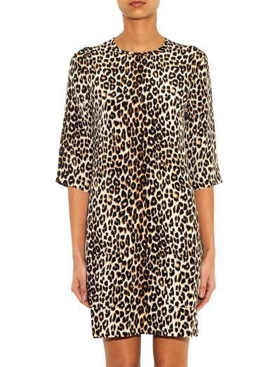 Equipment Aubrey leopard-print silk dress