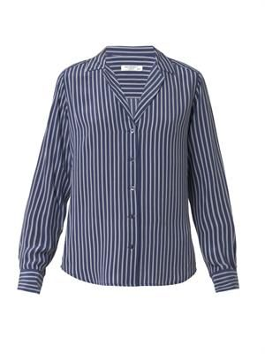 Adalyn striped silk shirt