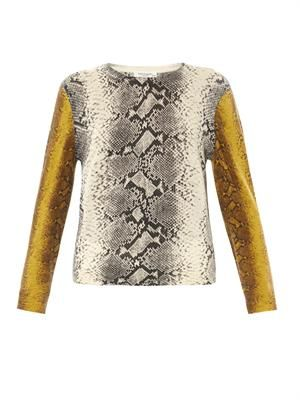 Shane snake-print sweater