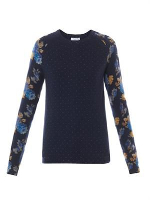 Sloane polka-dot and floral sweater