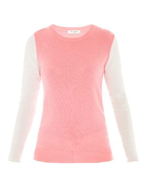Shane colour-block cashmere jumper