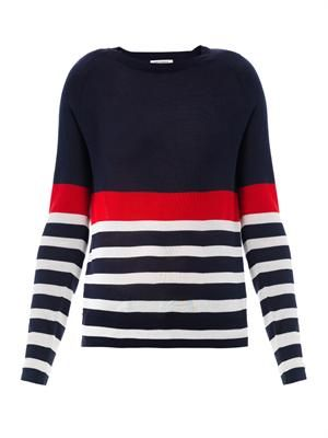 Sloane stripe fine-knit sweater