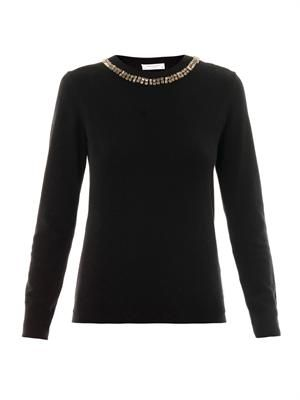 Shane embellished-neck sweater