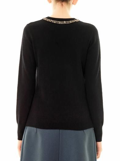 Equipment Shane embellished-neck sweater