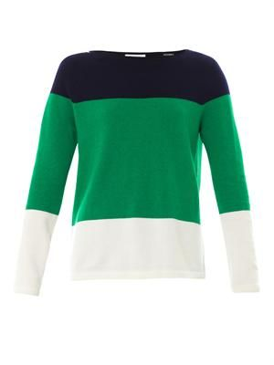 Josephine colour-block knit sweater