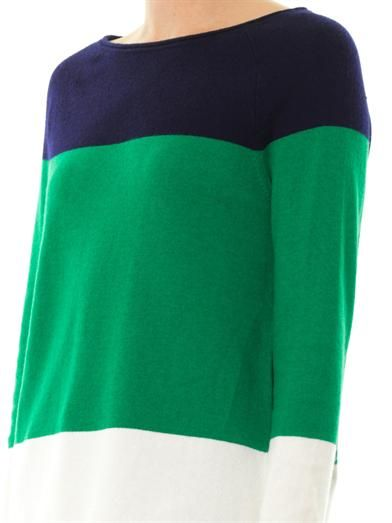 Equipment Josephine colour-block knit sweater