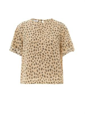 Logan cheetah-print silk blouse