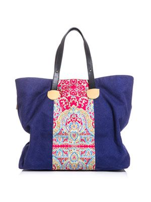 Canvas paisley-print bag