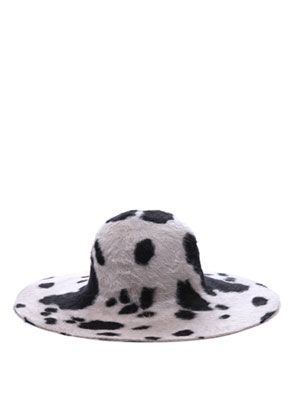 Animal print floppy hat
