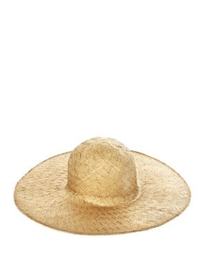 Textured straw hat