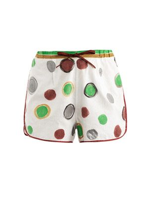 'Le shorts' hand-painted shorts