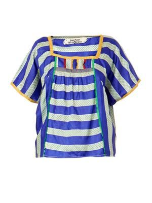 Urchin striped silk top