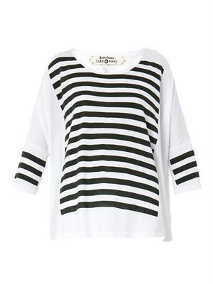 Arafura striped jersey top