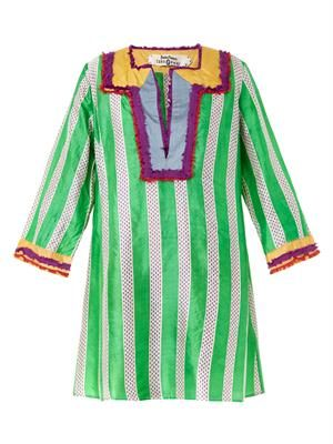Amea Kuta striped silk kaftan
